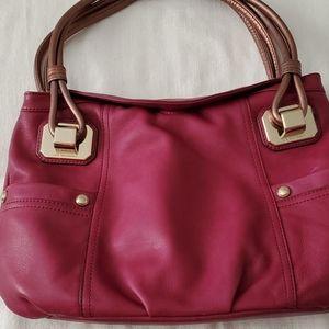 B Makowsky Violet Shoulder Bag